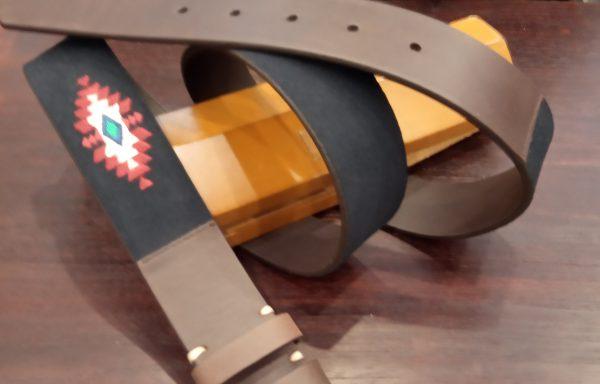 Cinturón Leyva piel  y serraje