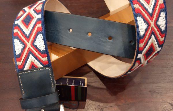 Cinturón Leyva piel  y lona