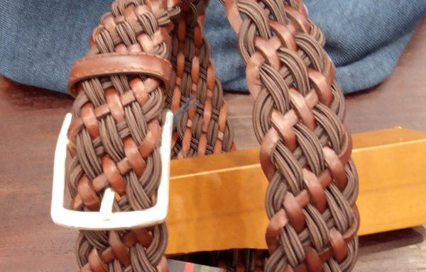 cinturón leyva piel trenzado