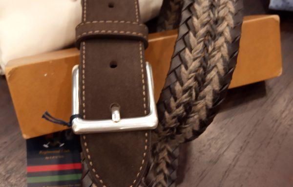 Cinturón Leyva piel trenzado ante