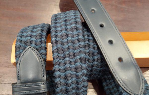 Cinturón piel y goma elástico